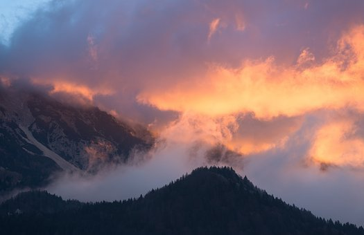 Sunset, Sky, Background, Orange, Night, Beautiful