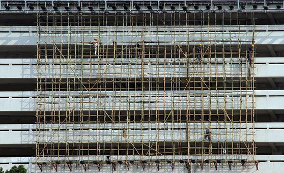 Scaffold, Construction, Builders, Scaffolding, Work
