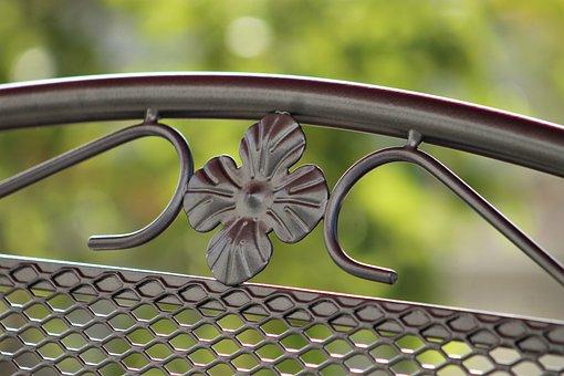 Garden Furniture, Chair, Sample, Wrought Iron, Garden
