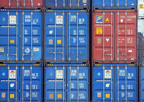 Containers, Freight, Export, Cargo, Transport