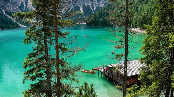 Lake, Braies, Alps, Travel, Italy, Dolomites, Water