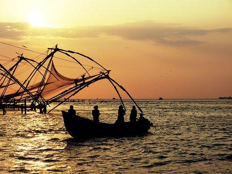 Sunset, India, Evening Sky, Sun, Dusk, Abendstimmung