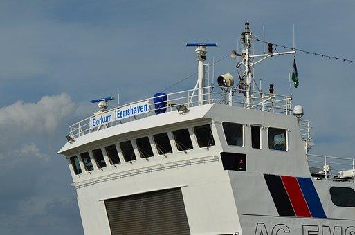Borkum, Ferry, The Control Bridge, Ferry Münsterland