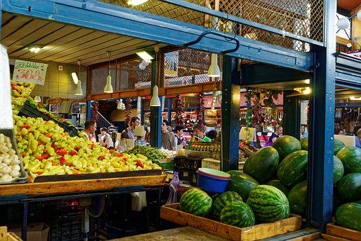 Vegetables, Fruit, Market, Hall, Budapest, Hungary
