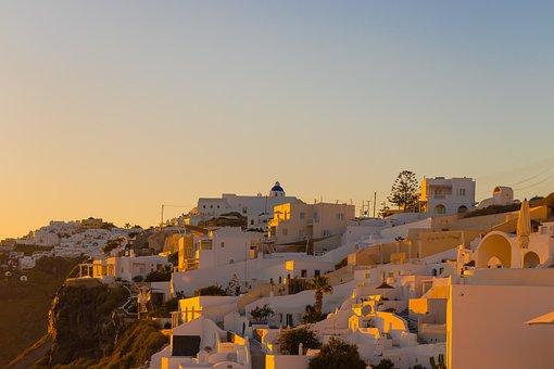 Santorini, Greece, Holiday, Landscape, Tourism, Heat