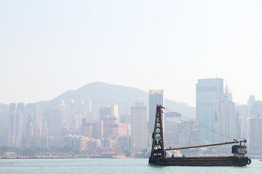 Hong Kong, Ship, Freight, Cargo, Cityscape, Kong, Hong