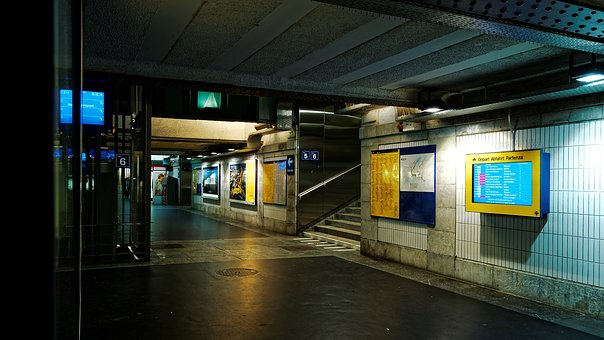 Underpass, Railway Station, Lausanne, Sbb, Switzerland