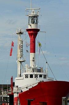 Borkum, Lightship, Floating Lighthouse, Rescue Ship