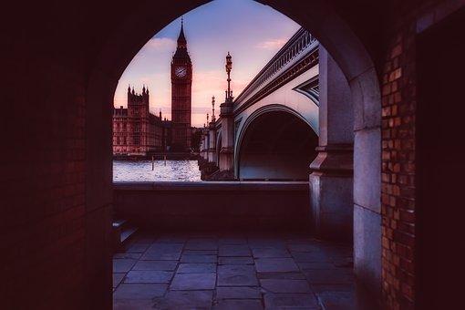 London, England, Great Britain, City, Urban, Sunrise