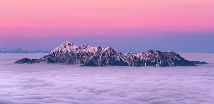 Sunset, Clouds, Sky, Background, Orange, Night
