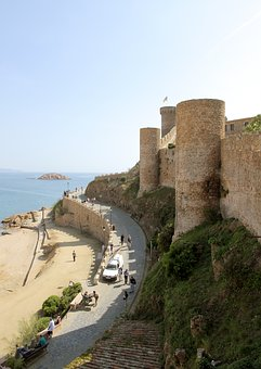 Stronghold, Castle, Sea, Shore, Fortress, Old, Tower