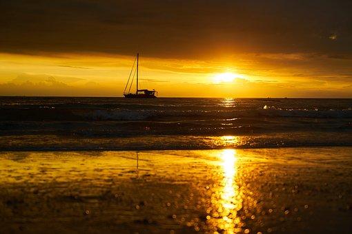 Solar, Landscape, Nature, Sunset, Marine, Peace, Beach