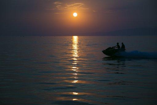 Sunset, Reverse Light, Beach, Environmental, Silhouette
