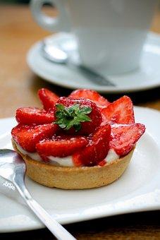 Strawberry Tart, Coffee, Strawberry, Dessert, Fruit