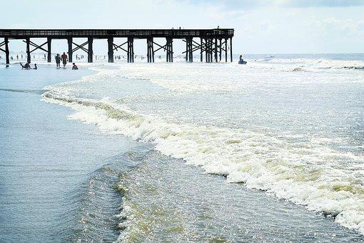 Beach, Ocean, Surf, Wave, Waves, Surfing, Pier, Dock