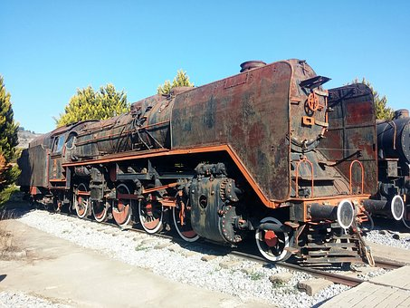 Train, Old, On, Museum, Travel, Railroad, Classic