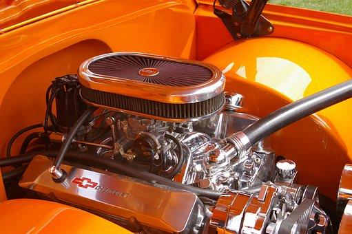 Engine, Chrome, Metal, Motor, Machine, Transportation