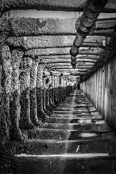 Strange, Tunnel, Black And White