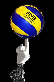 Volleyball, Ball, Robot Hand, Cyborg, Robot, Balance