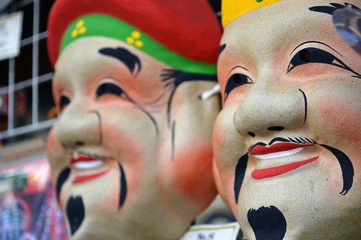 Japan, Tokyo, Asakusa, Mask, Japanese, Asia, Travel