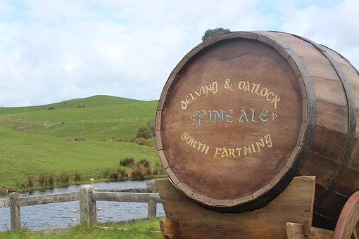 Hobbiton, Ale, Hobbit, Nz, Barrel, Countryside, Grass