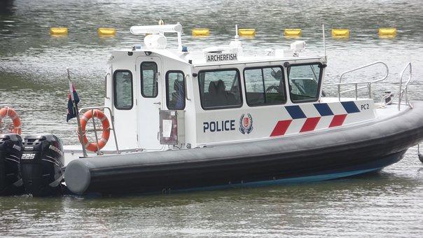 Police Patrol, Boat, Lifeguard