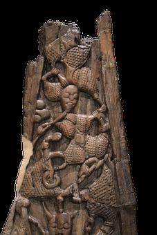 Wood, Carving, Viking, Viking Ship Museum, Oslo Norway