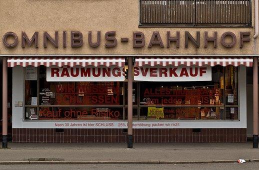 Clearance Sale, Reutlingen, Music, Business, Closure