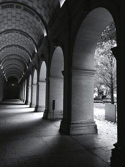 Architecture, Buildings, Corridors, Hallways, Arch