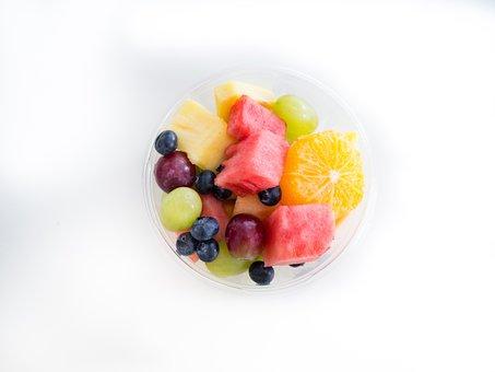 Fruit Salad, Fruits, Cup, Bowl, Food, Healthy, Grapes