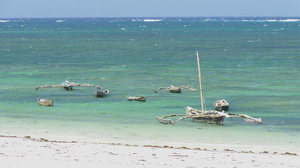 Kenya, Indian Ocean, Sand Beach, Sea, Diani Beach