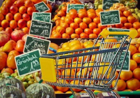 Shopping, Fruit, Vegetables, Business, Retail
