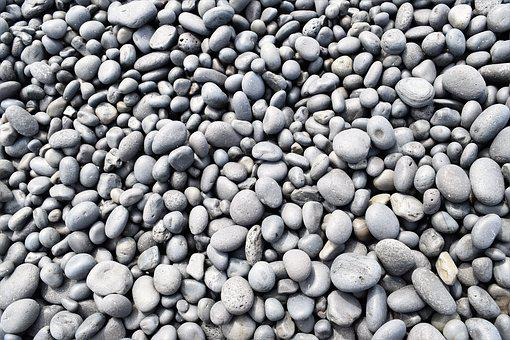 Pebbles, Rocks, Smooth, Zen, Natural, Black, Grey