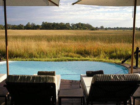 Lodge, Okavango Delta, Botswana, Safari, Nature
