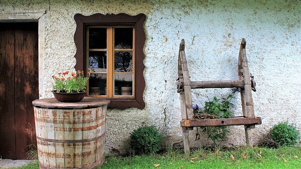 House, Rustic, Old, Old House, Traditionally, Flowers