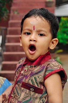 Cute, Child, Yawn, Preschool, Portrait, Happiness