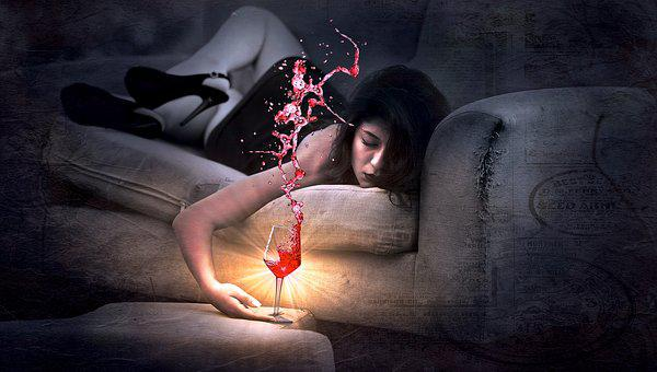 Couch, Red Wine, Girl, Drunk, Sleep, Wine, Tired