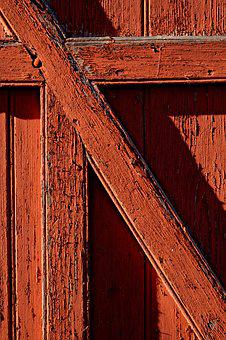Wood, Red, Barn, Deleted, Red Wood