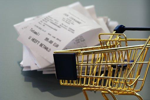 Shopping, Receipt, Business, Retail, Shopping Cart
