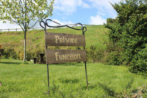 Private Function, Sign, Nz, Hobbiton, Private, Function