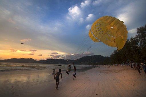 Beach, Para, Sail, Sea, Sport, Sky, Summer, Leisure