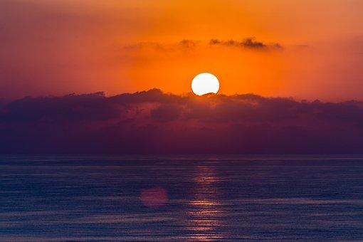 Sleeve, Murcia, Lower Mar, Sunset, Beach, Sky, Sun