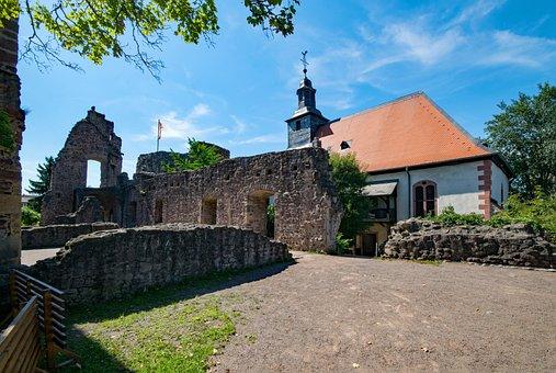 Castle Hayn, Dreieich, Three Oak Grove, Hesse, Germany