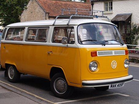 Vw, Van, Mobile, Camper, Car
