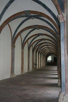 Monastery, Cloister, Architecture, Vault, Church, Arch