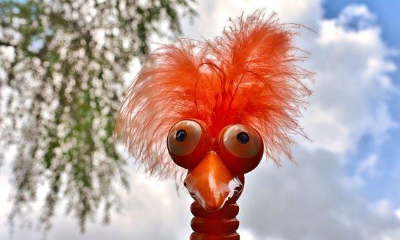 Weird Bird, Cute, Funny, Ceramic, Bird, Figure