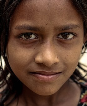 Bangladeshi Rural Area Girl, Who Lives In Crisis