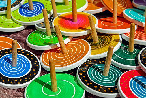 Roundabout, Wood, Toys, Colorful, Color, Round