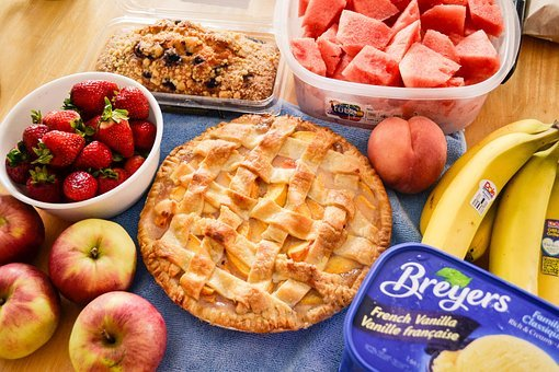 Pie, Dessert, Food, Fruits, Apples, Strawberries