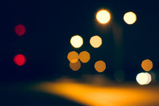 Bokeh, Lights, Dark, Night, Evening, Blurry
